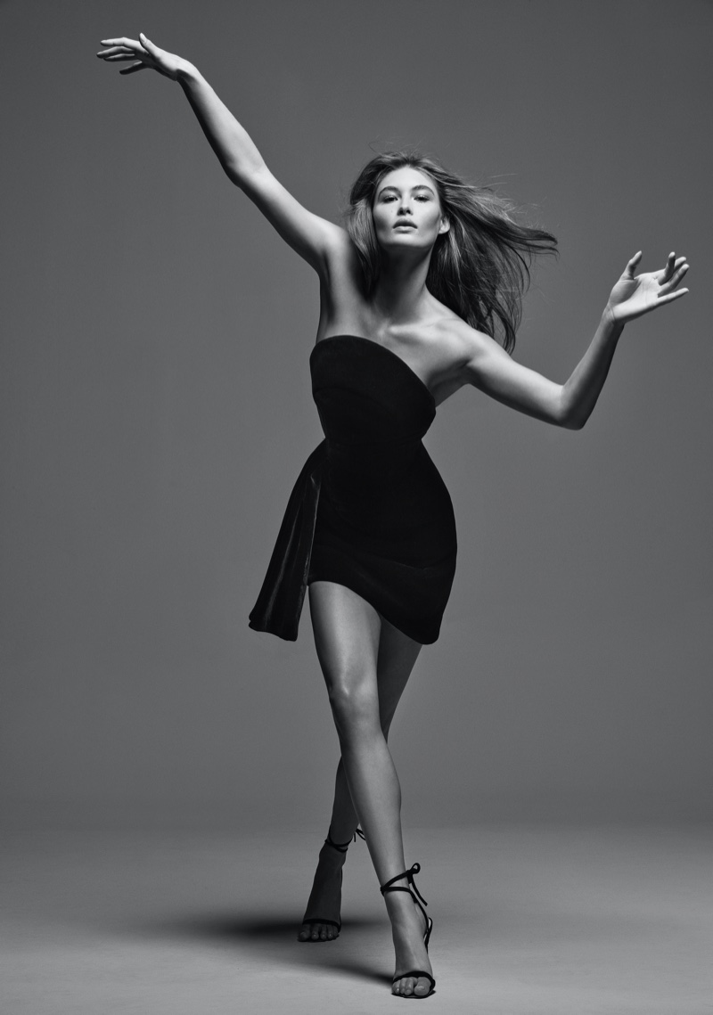 Striking a pose, Grace Elizabeth fronts Brandon Maxwell Classics Collection II.