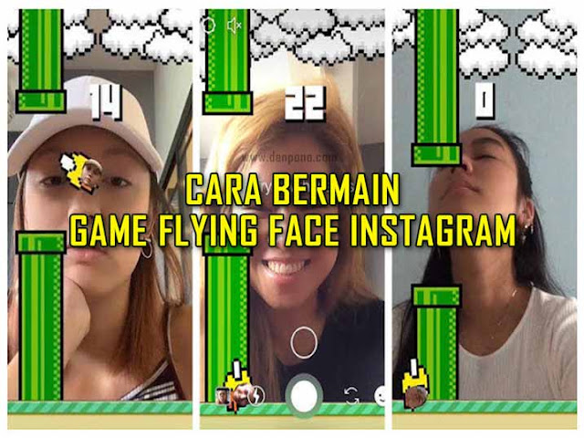 Cara Bermain Game Kedipan Mata 'Flying Face' di Instagram Story