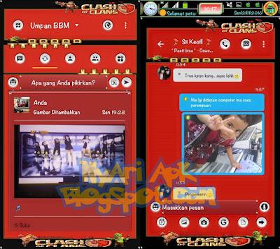 Download BBM Mod Clash of Clans Versi 3.1.0.13 Apk Terbaru
