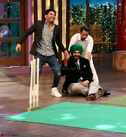The Kapil Sharma Show with Abbas Mustan and Machine cast   TV Show Pics March 2017 04.JPG