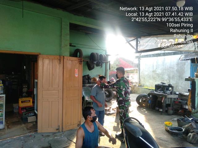 Jalin Kekeluargaan Dengan Laksanakan Giat Komsos Bersama Warga Dilakukan Personel Jajaran Kodim 0208/Asahan