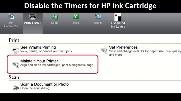 Disable the Timers for HP Ink Cartridge