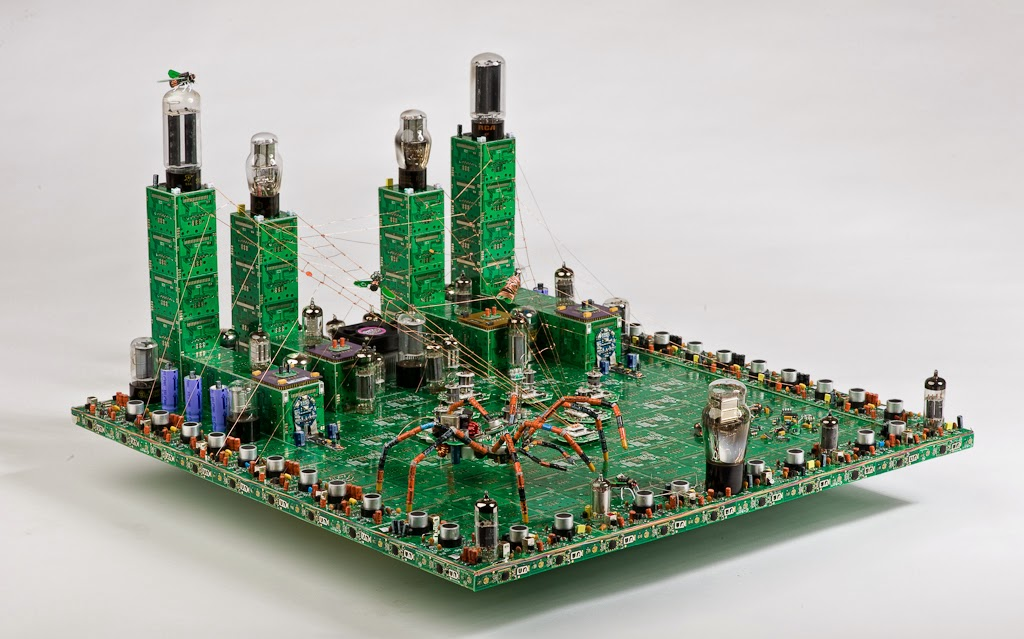 15-City-Steven-Rodrig-Upcycle-PCB-Sculptures-from-used-Electronics-www-designstack-co