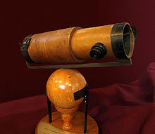 Replica of Newton's second Reflecting telescope that he presented to the Royal Society in 1672