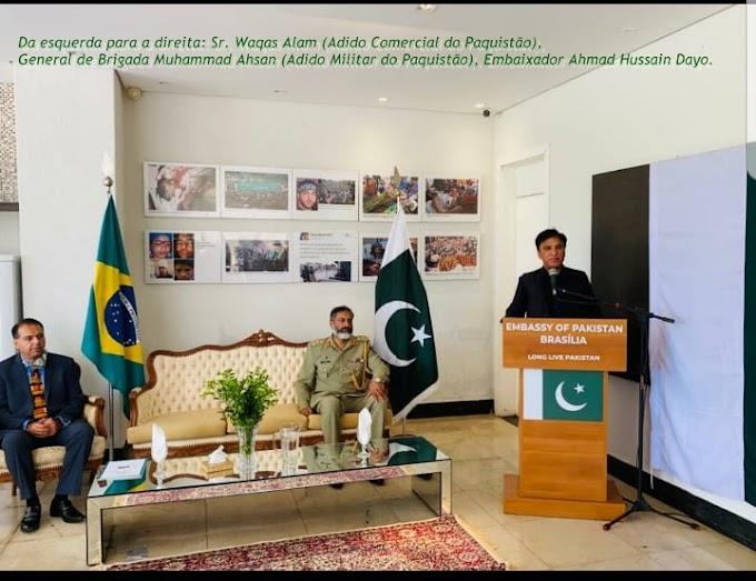 Novo Embaixador do Paquistão,Ahmad Hussain fala sobre  solidariedade a Caximira