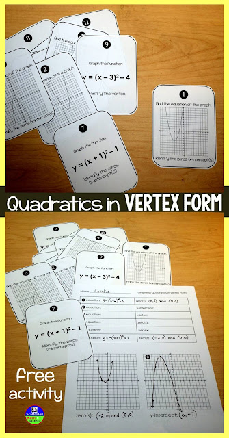 free quadratics activity