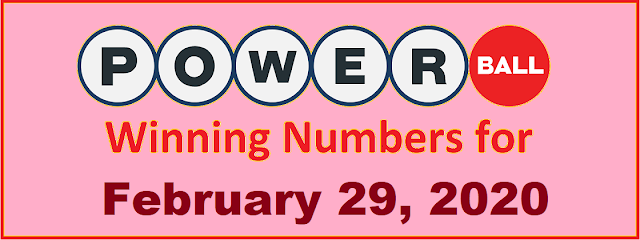 PowerBall Winning Numbers for Saturday, February 29, 2020