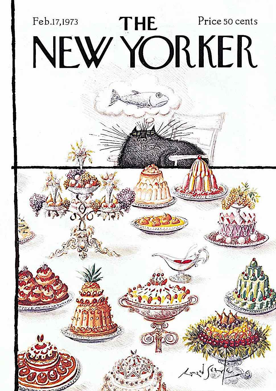 a Ronald Searle illustration for The new Yorker Feb. 17 1973