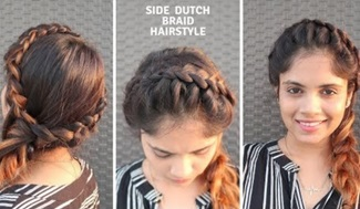 Easy Side Dutch Braid Hairstyle With HeadBand / Hairstyle for medium to long hair