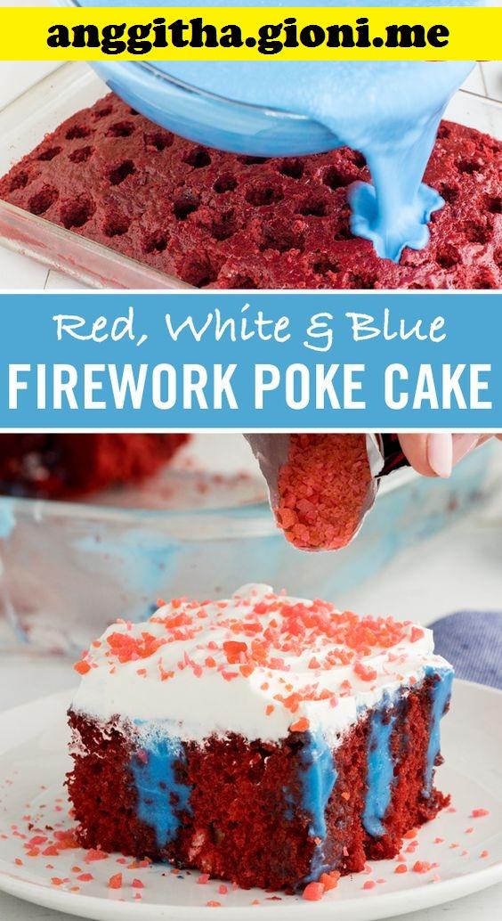 Firework Poke Cake
