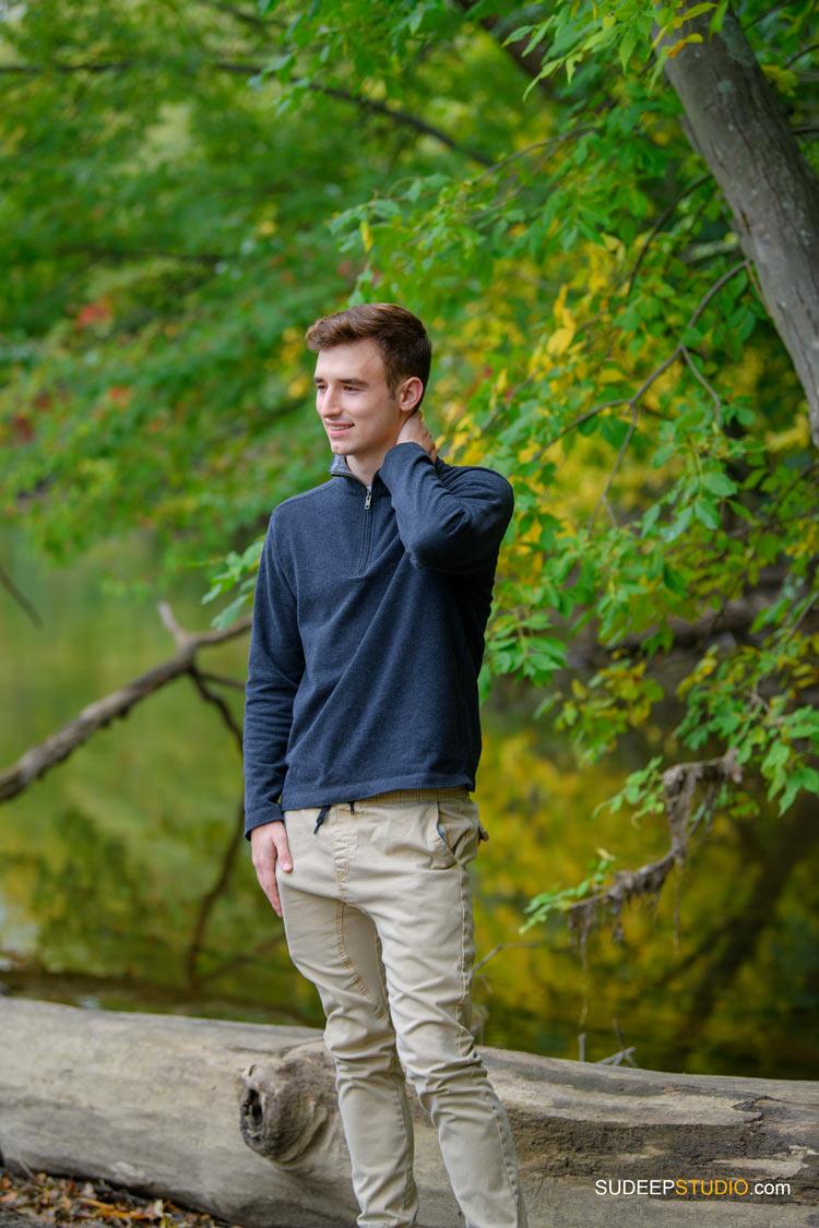Pioneer High School Guys Senior Pictures in Nature Theme SudeepStudio.com Ann Arbor Senior Portrait Photographer