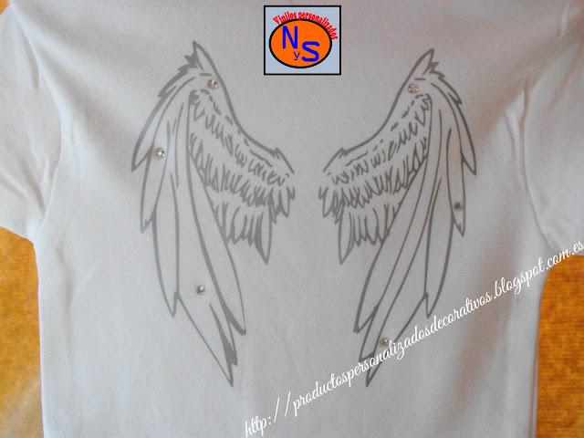 Body con alas de angel. Personalizado