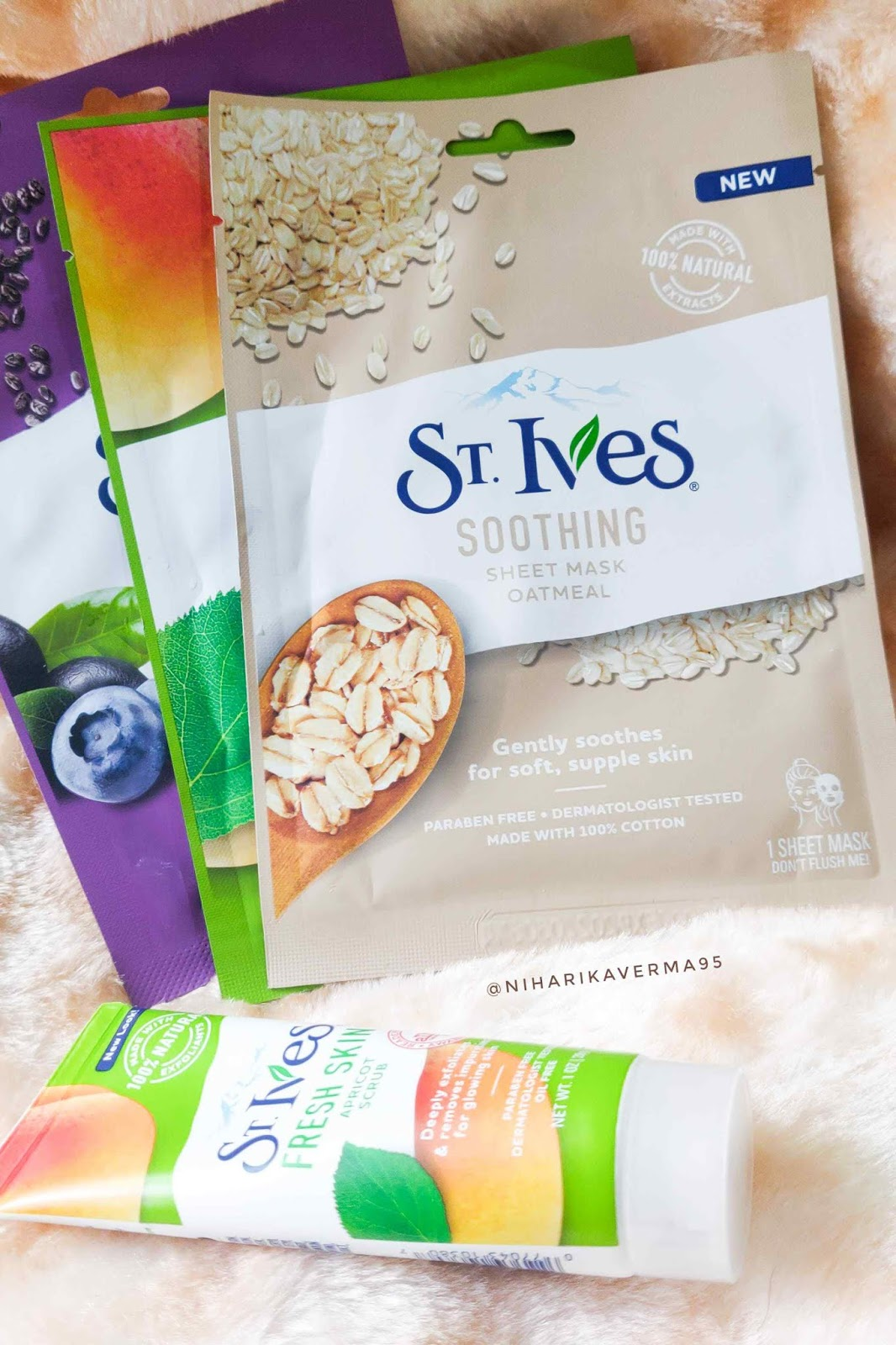 St.Ives Fresh Skin Apricot Face Scrub - Review - Sheet Masks