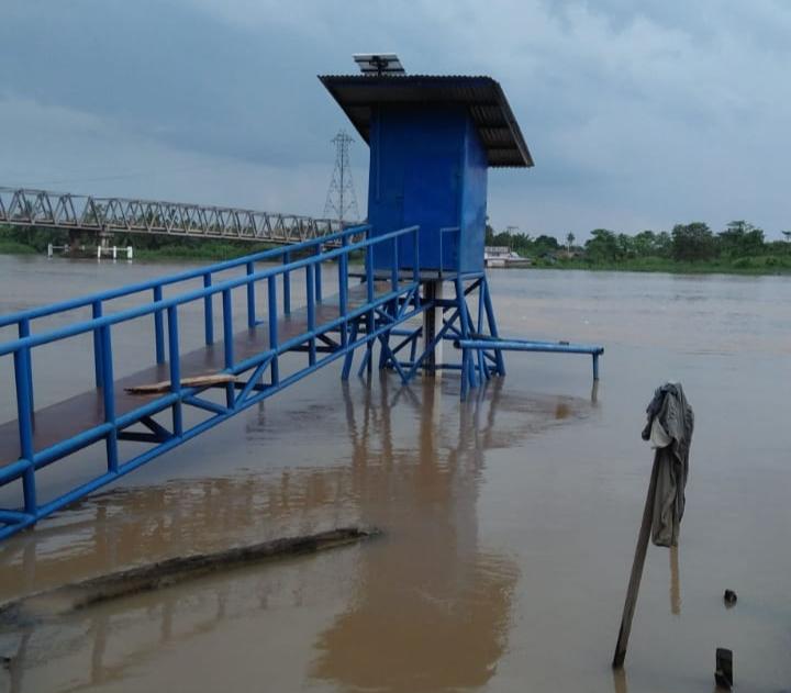 Status Siaga II, Ketinggian Air Sungai di Berbak 5,13 Meter
