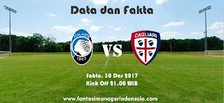 Data dan Fakta Liga Fantasia Atalanta vs Cagliari Fantasi Manager Indonesia