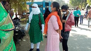 मास्क नहीं पहनने वालों पर की कई प्रतिबंधात्मक कार्यवाही