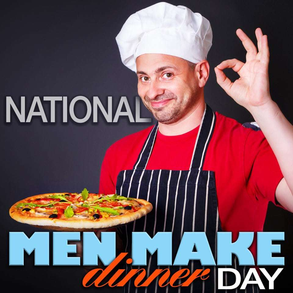 National Men Make Dinner Day Wishes Unique Image