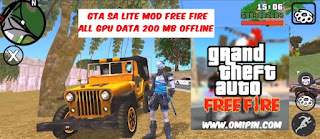 GTA SA Lite MOD Free Fire Indonesia Data 200mb