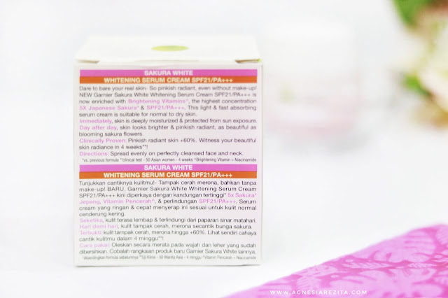 Garnier Sakura White Serum Cream SPF 21