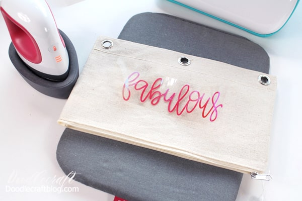 Heat up the EasyPress mini! I love my mini--it works great for small projects and takes up very little space. With Cricut Joy and EasyPress Mini space saving is perfection!