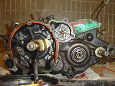 Cagiva Mito 125 engine strip down / tear down ( gearbox and crankshaft removal )