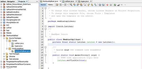 Cara membuat aplikasi mengunakan java netbeans komputer grafik