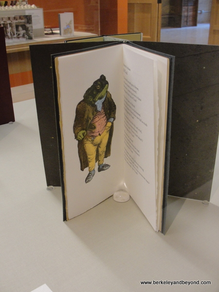 """Toad Poems"" by Kenneth Grahame & Don Magius displayed at American Bookbinders Museum in San Francisco"