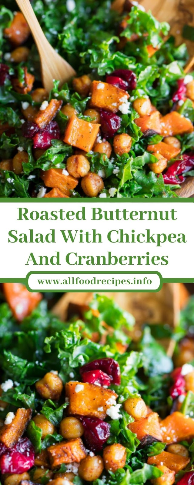 Roasted Butternut Salad With Chickpea And Cranberries