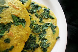 Chickpea Flour (Besan) Crêpes with Spinach