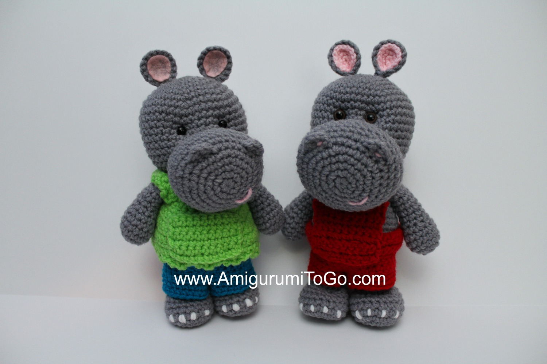 Little Bigfoot Hippo ~ Amigurumi To Go