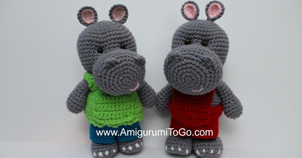 Little Bigfoot Hippo Amigurumi To Go
