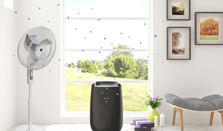 Sharp's Plasmacluster Ion: Cleaner indoor air with unique airflow technology.