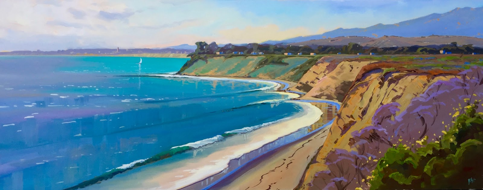 postcards from santa barbara a daily painting project by plein air artist chris potter. Black Bedroom Furniture Sets. Home Design Ideas