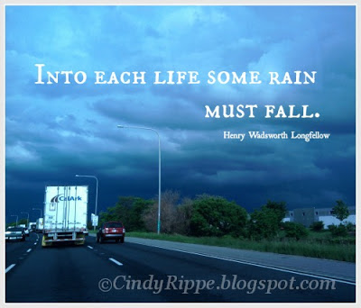 Storm, Rain quote by Henry Wadsworth Longfellow, Sun and Rain on the Highway, Florals-Family-Faith, Cindy Rippe