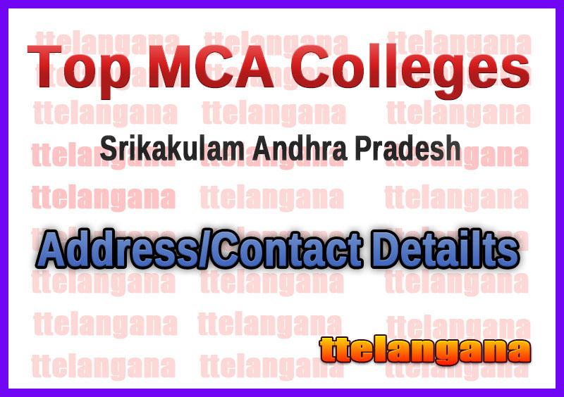 Top MCA Colleges in Srikakulam Andhra Pradesh