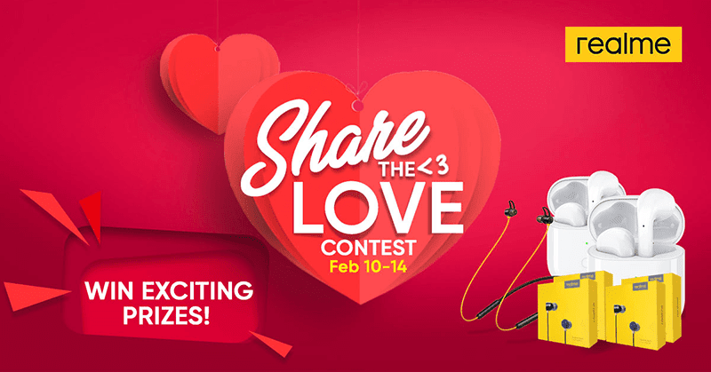 Realme announces #ShareTheLove Valentine's Day Promonnounces #ShareTheLove Valentine's Day Promo