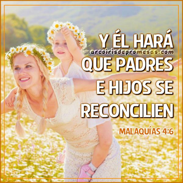 reconciliación entre padres e hijos mensajes cristianos con imágenes