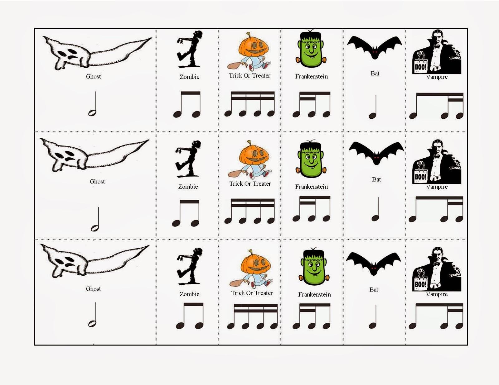 Musical Musings Halloween Match Mine