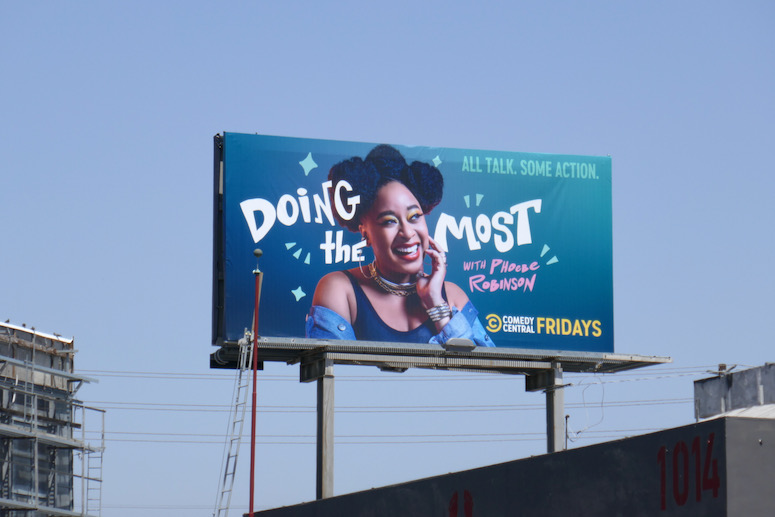 Doing the Most Phoebe Robinson billboard