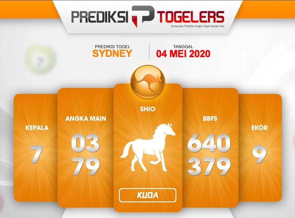 Prediksi Togel Sidney 04 Mei 2020 - Prediksi Togelers