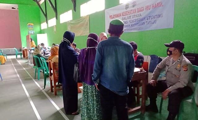 Kegiatan Vaksinasi COVID - 19 Bagi Masyarakat di Wilkum Polsek Taraju Kab Tasikmalaya