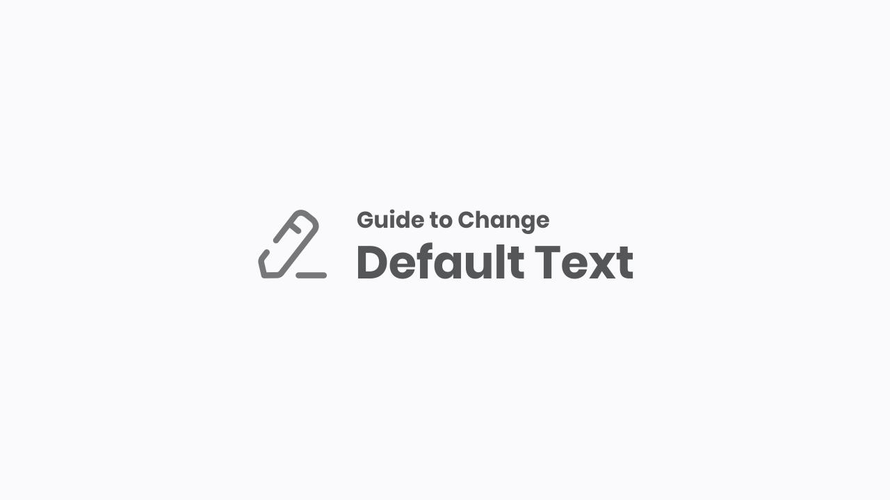 Edit All Default Text in Median UI
