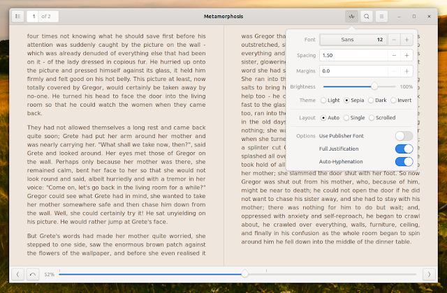Foliate Linux ebook reader