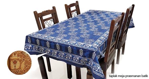 taplak meja makan batik