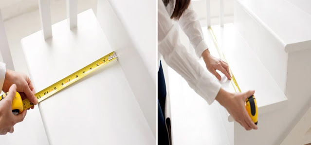 Ukuran jarak antara anak tangga