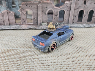 a Diecast car beefed up for Gaslands