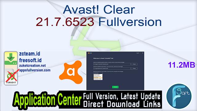 Avast! Clear 21.7.6523 Fullversion