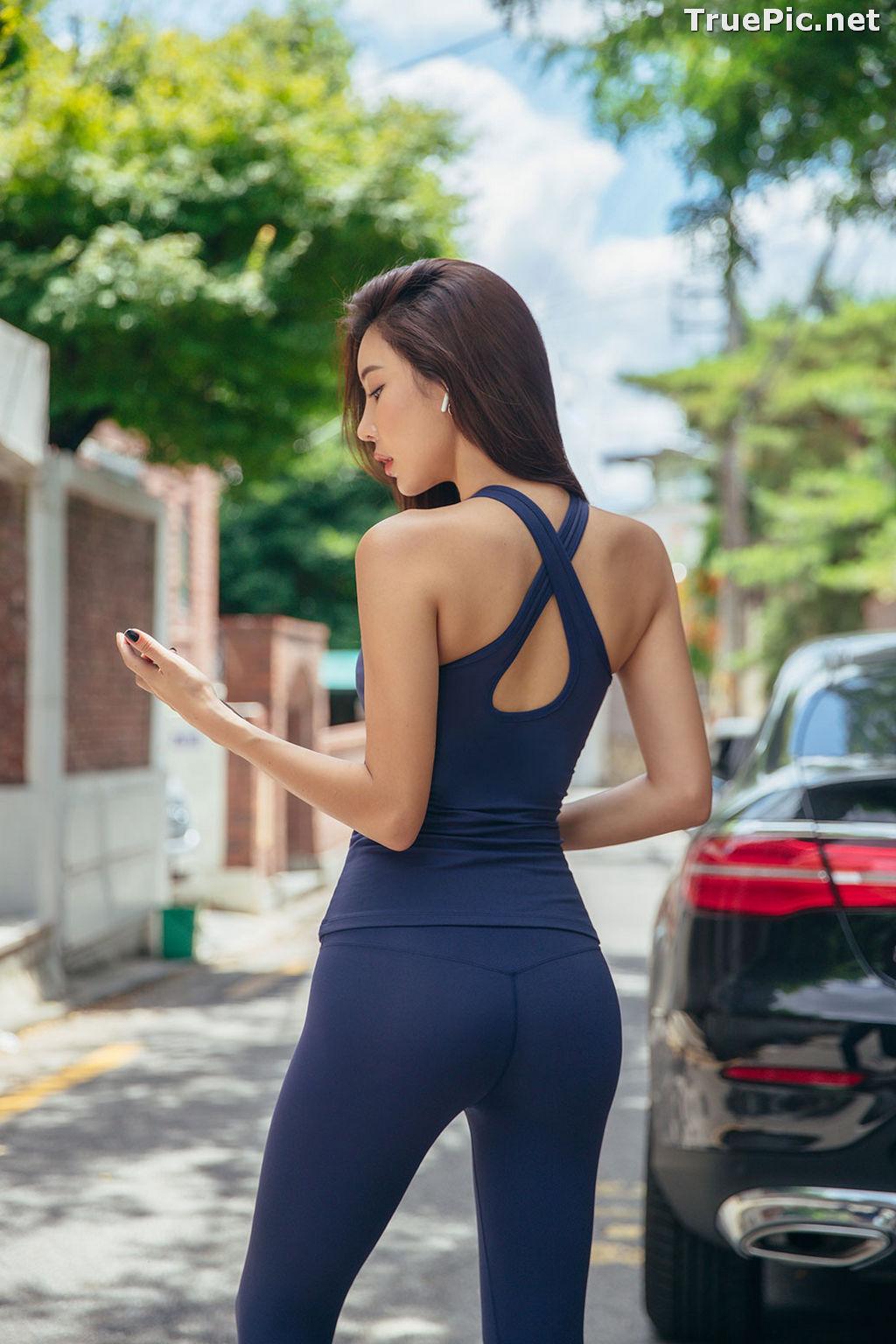 Image Korean Fashion Model - Park Da Hyun - Navy Sportswear - TruePic.net - Picture-17