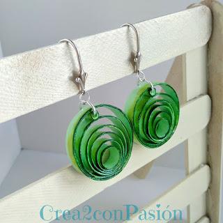 Tutorial-quilling-bisutería-pendientes-de-formas-geométricas-verde-Crea2-con-Pasión