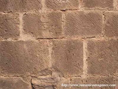 Castillo de Loarre, marcas de cantería